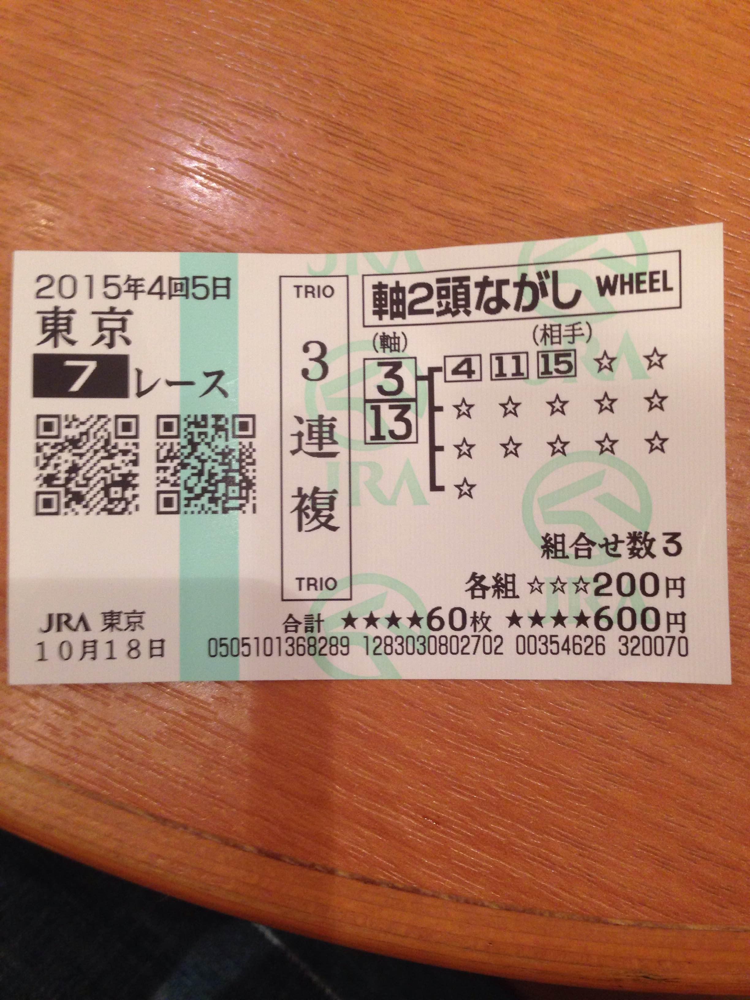 東京7レース